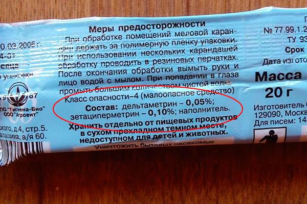 Состав мелка Машенька