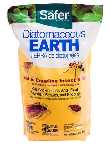 Инсектицидное средство Safer на основе диатомита.
