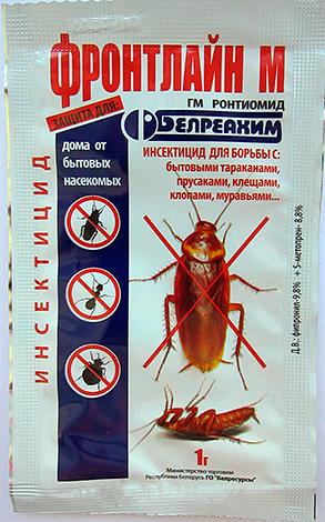 Фронтлайн М - порошок для борьбы с тараканами, домашними муравьями, клещами и клопами.