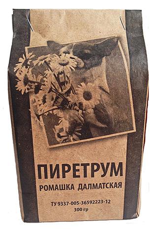 Порошок Пиретрум - натуральный инсектицид, производимый из сушеных цветков далматской ромашки.