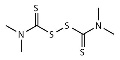 Тиурам (тетраметилтиурамдисульфид) - химическая формула