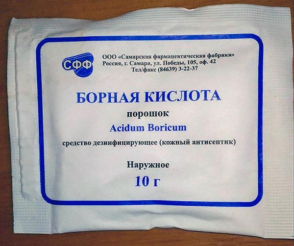 Порошок борной кислоты весьма токсичен для тараканов, и его легко можно купить в любой аптеке.