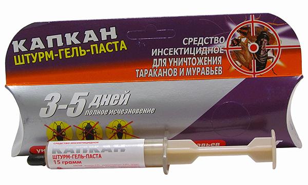 Штурм-гель-паста Капкан для уничтожения тараканов и муравьев