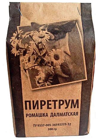 Пиретрум (порошок из цветков далматской ромашки).