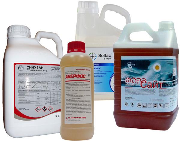 Инсектицидные препараты для профессионального применения.