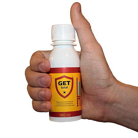 Инсектицидный препарат Get Total вполне эффективно уничтожает и пылевых клещей.