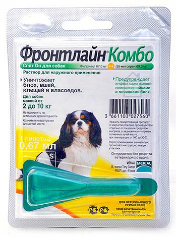 Капли на холку для защиты собак от укусов блох и клещей
