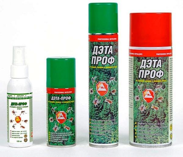 Аэрозоли и спрей от клещей ДЭТА-Проф