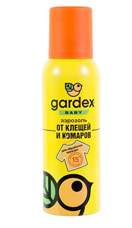 Аэрозоль Gardex Baby от клещей и комаров