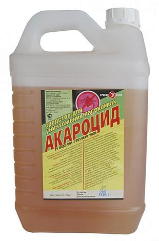 Средство для уничтожения насекомых и клещей Акароцид