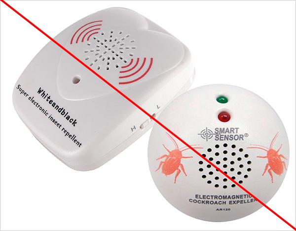 Как показывает практика, различные ультразвуковые и магнитно-резонансные отпугиватели на тараканов не оказывают практически никакого воздействия.
