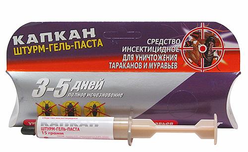 Инсектицидный гель Капкан Штурм-гель-паста