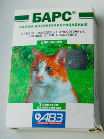 Пример: капли от блох для кошек Барс