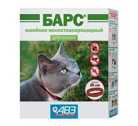 Барс - ошейник инсектоакарицидный для кошек