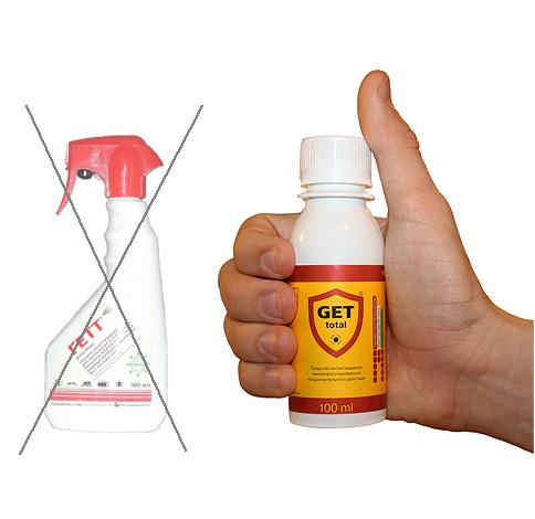 На смену устаревшему средству от тараканов Гетт пришел новый препарат Get