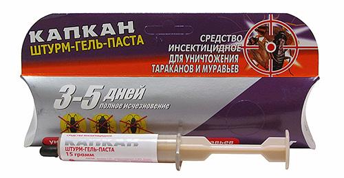Капкан штурм-гель-паста от тараканов