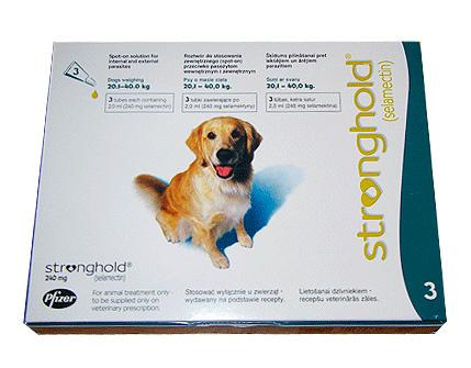 Капли от блох на холку для собак Stronghold