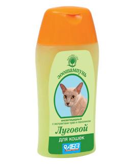 Шампунь против блох у кошек Луговой