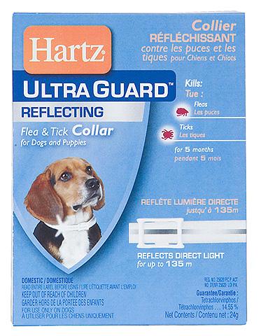 Ошейники Hartz также долго сохраняют противоблошиный эффект