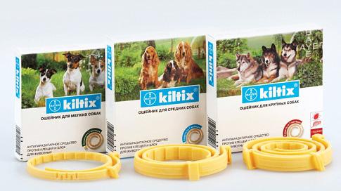 Ошейники Kiltix от блох для собак