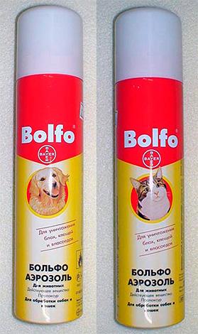 Аэрозольное средство от блох Bolfo
