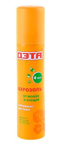 Аэрозоль от мошек и клещей (отпугивает и муравьев)