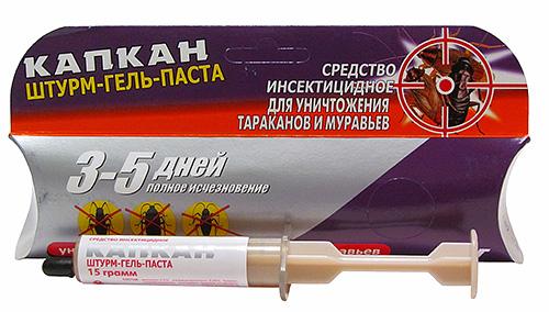 Гель Штурм не так известен, как Глобол, но тоже вполне эффективен от насекомых
