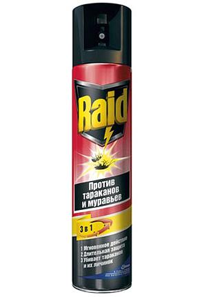 Аэрозольное средство для уничтожения насекомых Raid