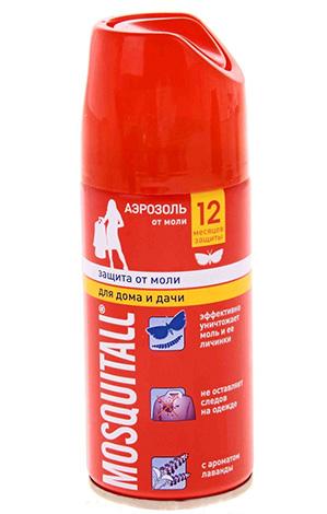 Аэрозоль Mosquitall - один из лучших в борьбе с платяной (шубной) молью