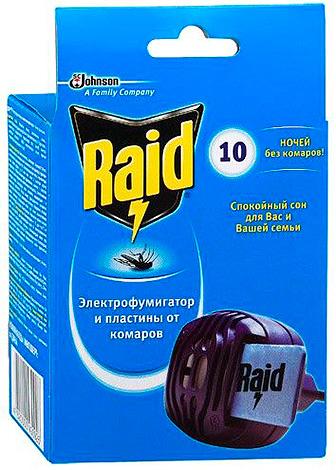 Фумигатор Raid (на пластинах)