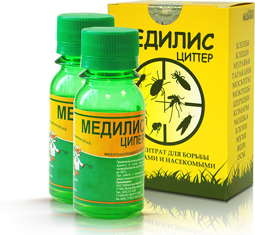 Препарат Медилис Ципер достаточно эффективен в борьбе с клопами и малотоксичен для людей
