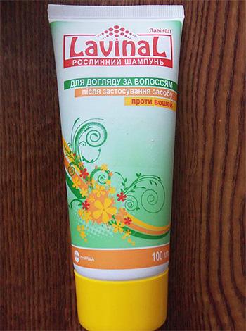 Натуральный шампунь против вшей у детей Лавинал