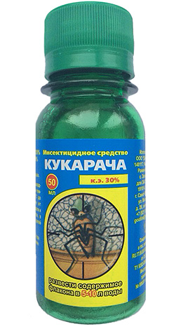 Пример: концентрат инсектицидного средства Кукарача