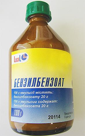 Бензилбензоат часто применяется и для выведения вшей