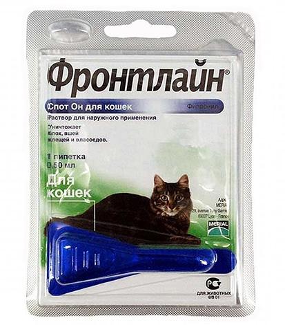 Средство Фронтлайн от блох - подходит как для кошек, так и для котов