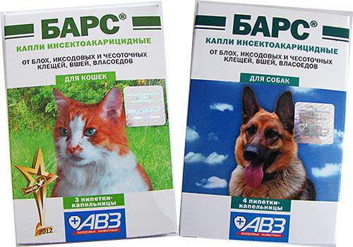 Знакомимся с отечественным препаратом от блох для кошек и собак - каплями Барс