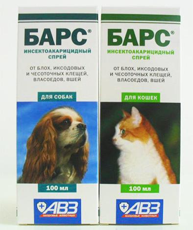 Спреи от блох Барс для собак и для кошек