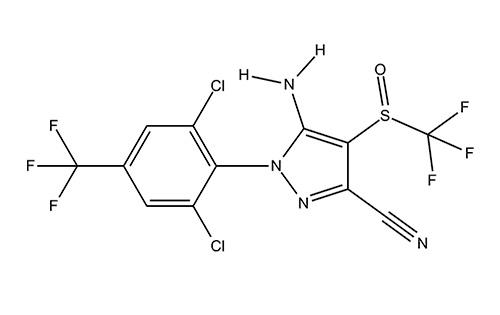 Инсектицид фипронил - химическая формула