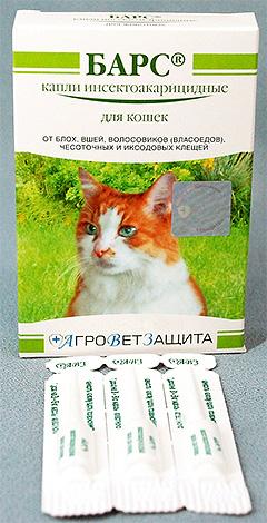 Капли Барс от блох для кошек
