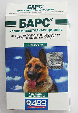 Капли Барс от блох для собак