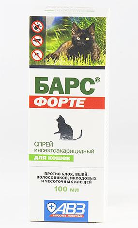 Спрей от блох Барс (для кошек)