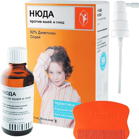 Нюда хорошо подходит для уничтожения вшей у детей, поскольку не содержит инсектицидов