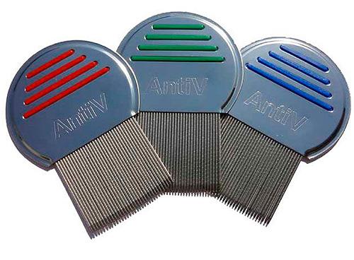 Гребень AntiV эффективно удаляет как вшей, так и гнид с волос
