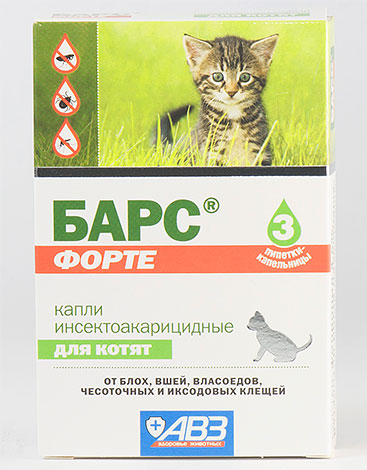 Капли инсектицидные для котят Барс Форте