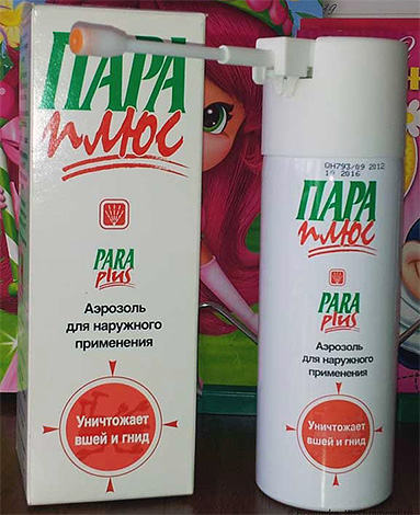Еще один препарат для выведения вшей в домашних условиях - аэрозольное средство Пара Плюс