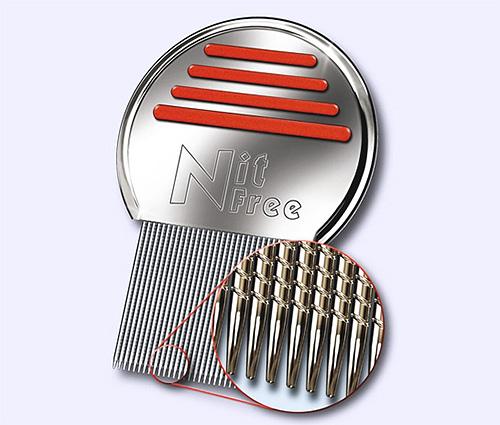 Благодаря специальным насечкам, гребень Nit Free имеет повышенную эффективность вычесывания вшей и гнид