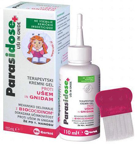 Удобно, что в комплекте с Паразидозом сразу идет гребень для вычесывания паразитов.