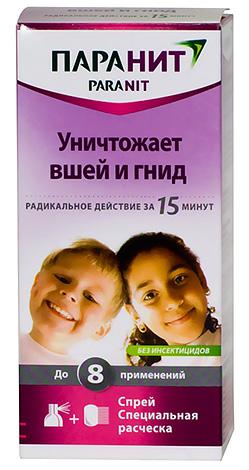 Шампунь от вшей и гнид Паранит вполне безопасен для детей