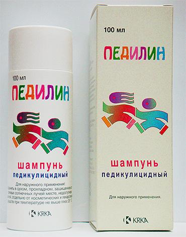 Благодаря малатиону в составе, шампунь Педилин является довольно мощным средством, уничтожающим вшей и гниды