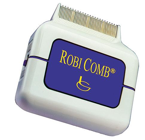 На фото - электрический гребень от вшей Robi Comb